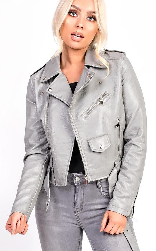 Leyla Biker Faux Leather Jacket