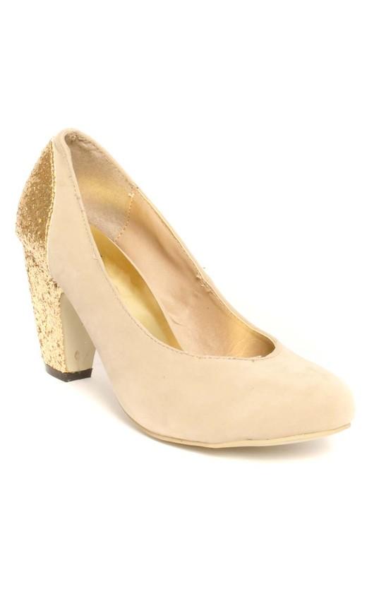 Mischka Glitter Block Heels