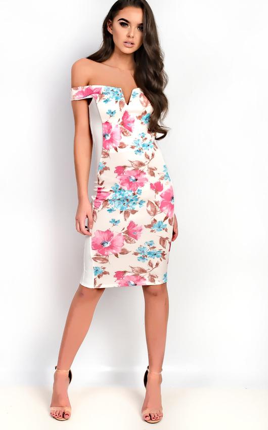 Jelena Bardot Floral Midi Dress