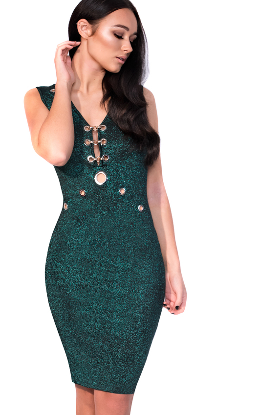 Milly Midi Luxe Cut Out Bandage Dress