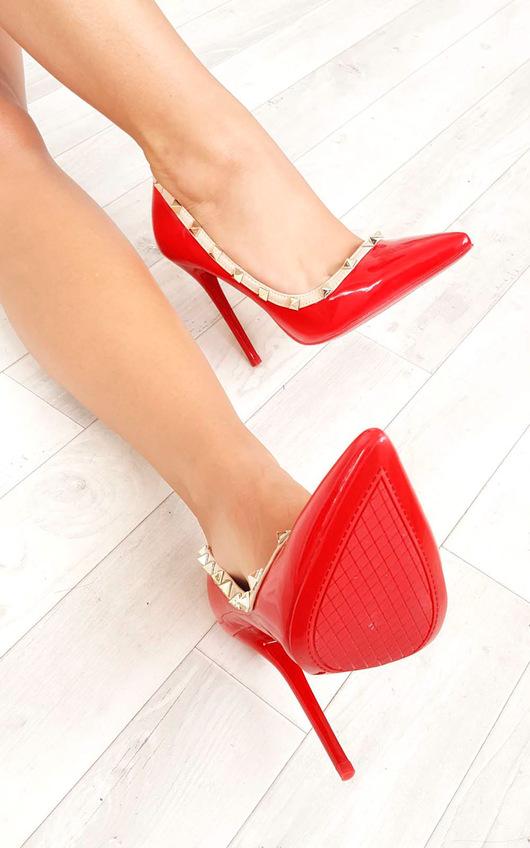 Darla Studded Court Heels