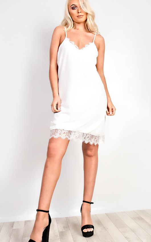 Tiffany Lace Cami Mini Dress