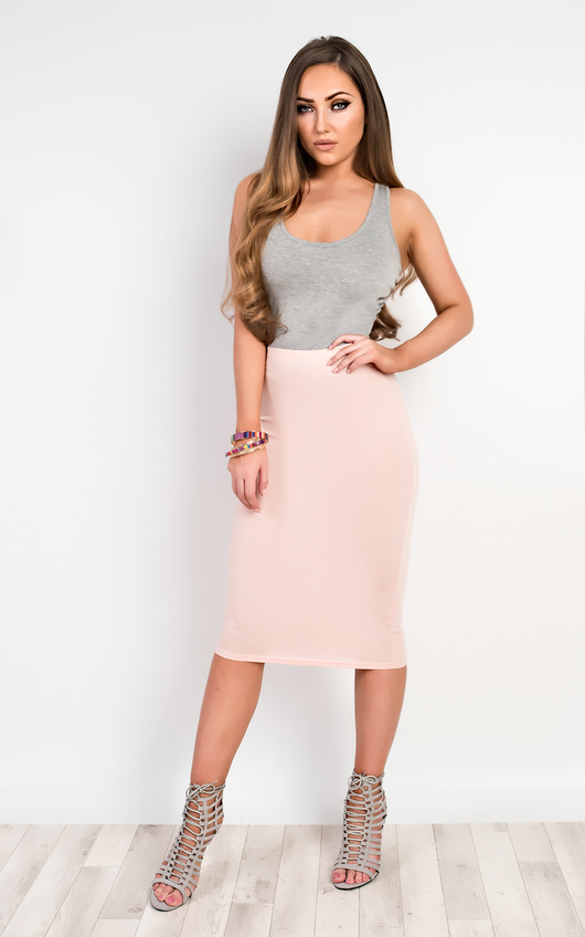 Elisheva Basic Midi Skirt