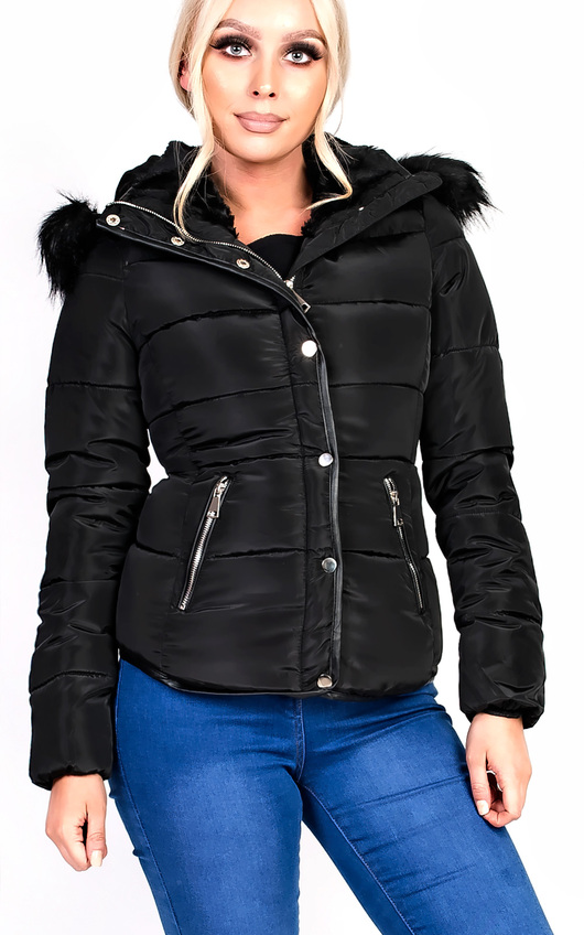 North Padded Faux Fur Hooded Jacket