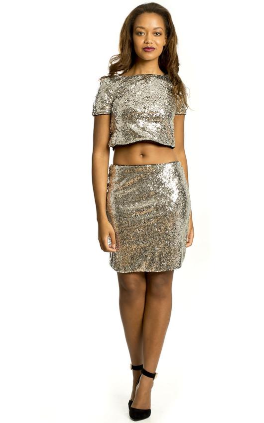 Aliya Sequin Party Skirt