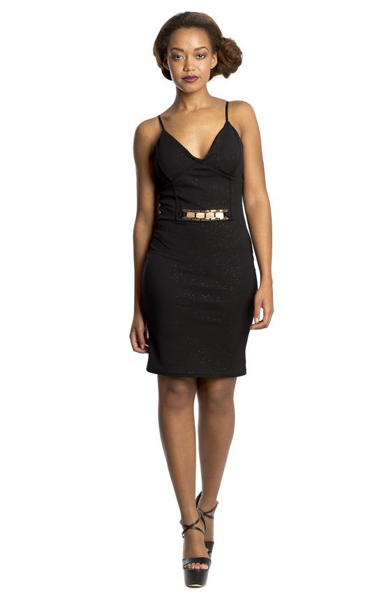 Odelia Gold Chain Dress