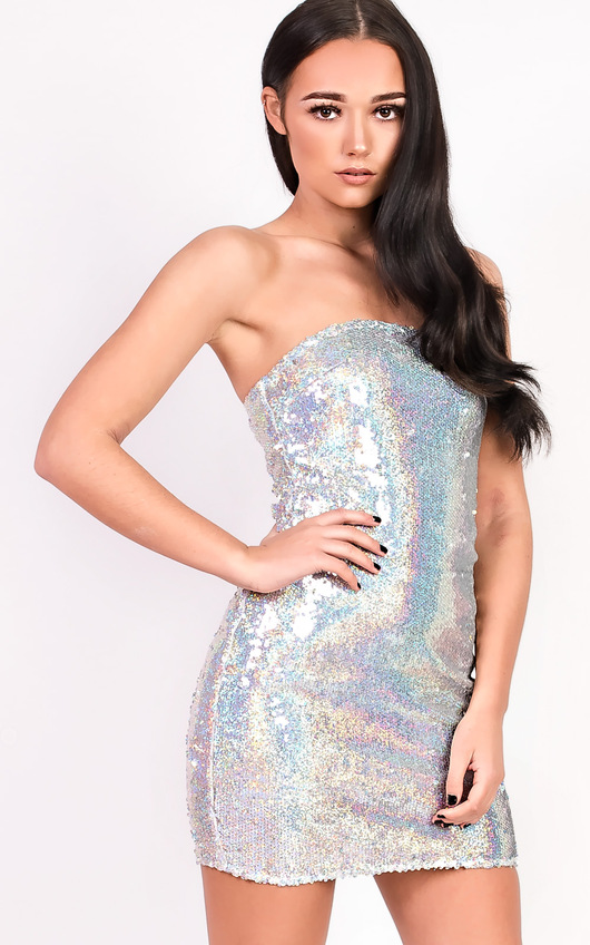 Kaya Bandeau Sequin Dress