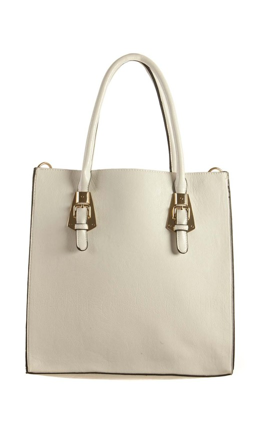Opal White Leather Style Handbag
