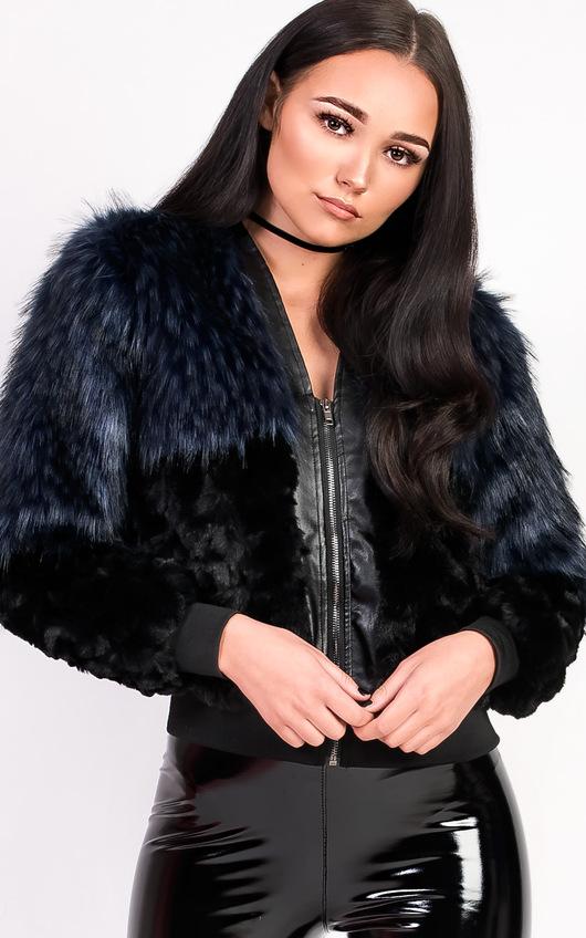 Kayla Faux Fur Bomber Jacket