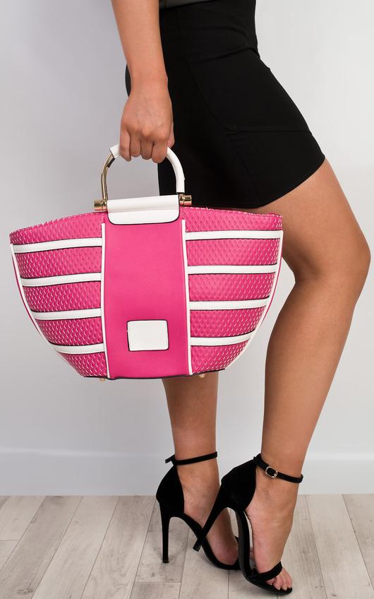 Millie Laser Cut Handbag