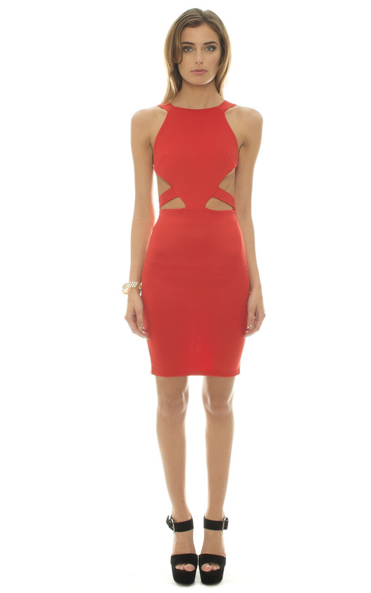 Corra Red Cut Out Dress