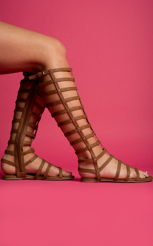Kendall Caged Gladiator Studded Sandals