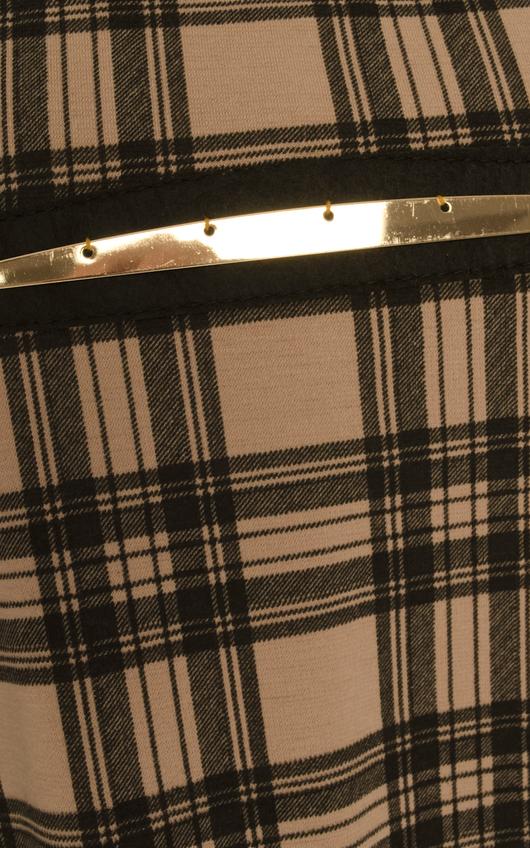 Caera Cutout Tartan Dress