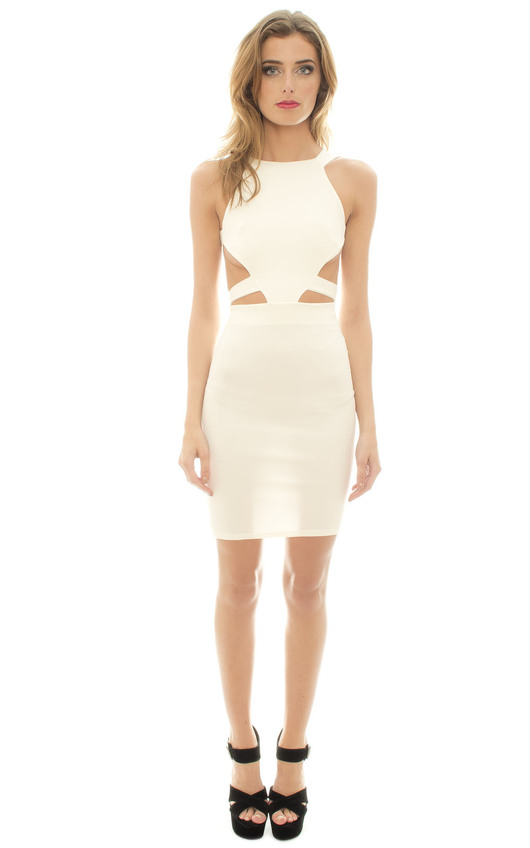 Corra Cream Cut Out Dress