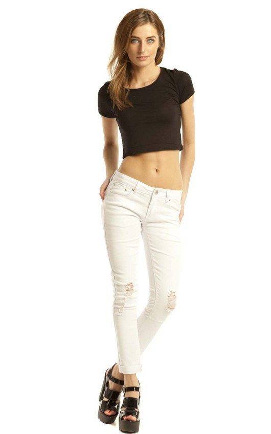 Geneva White Skinny Jeans