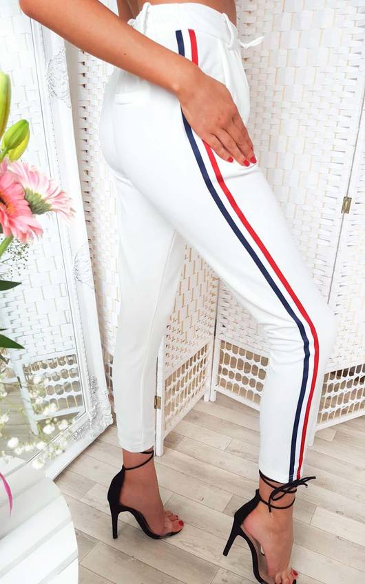 Felicity Striped Tie Tailored Trousers