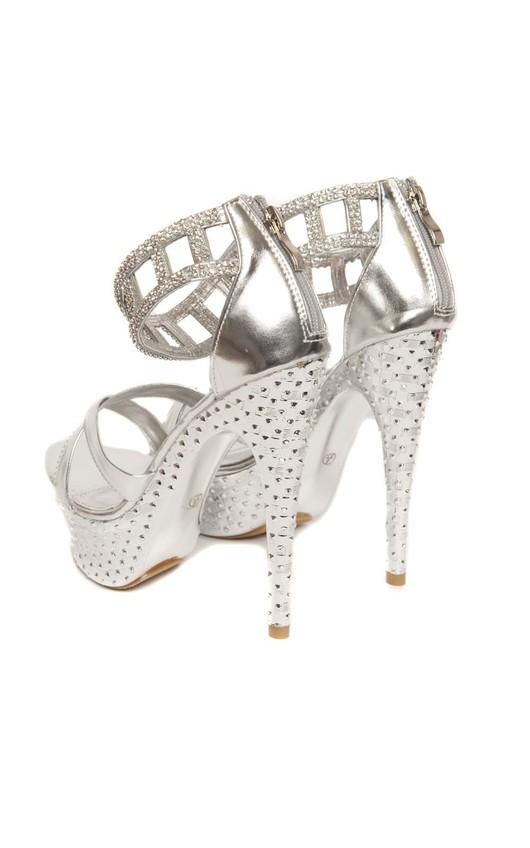 Riah Silver High Heels