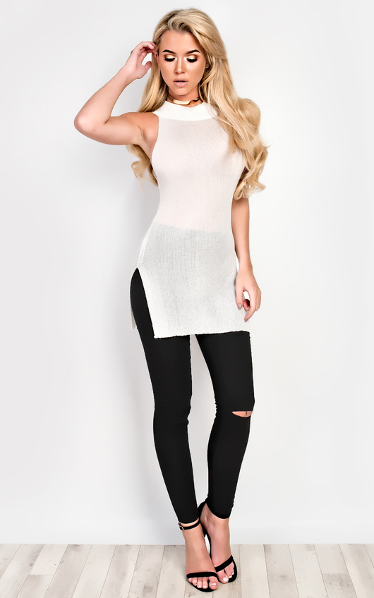 Fran Knitted Split Top