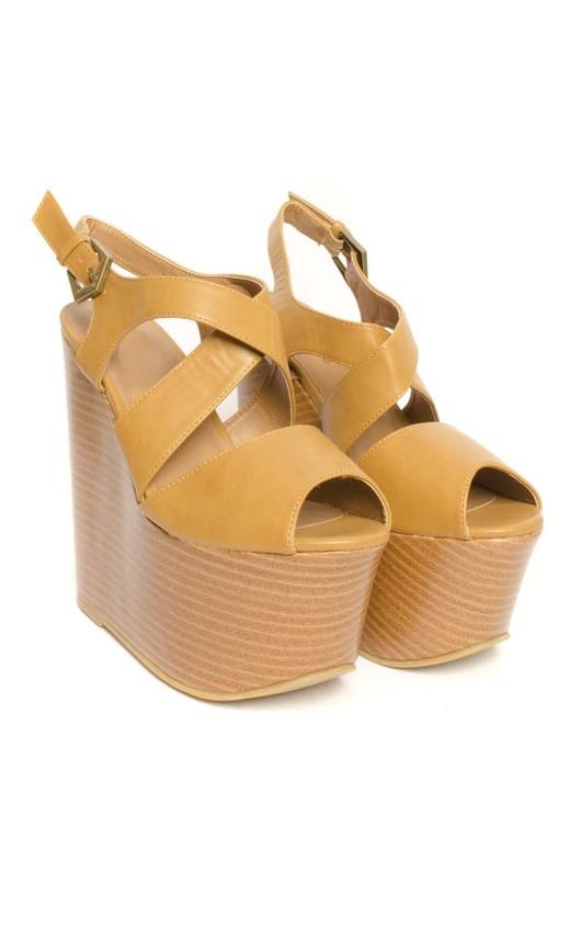 Katrine Platform Peep Toe Wedges