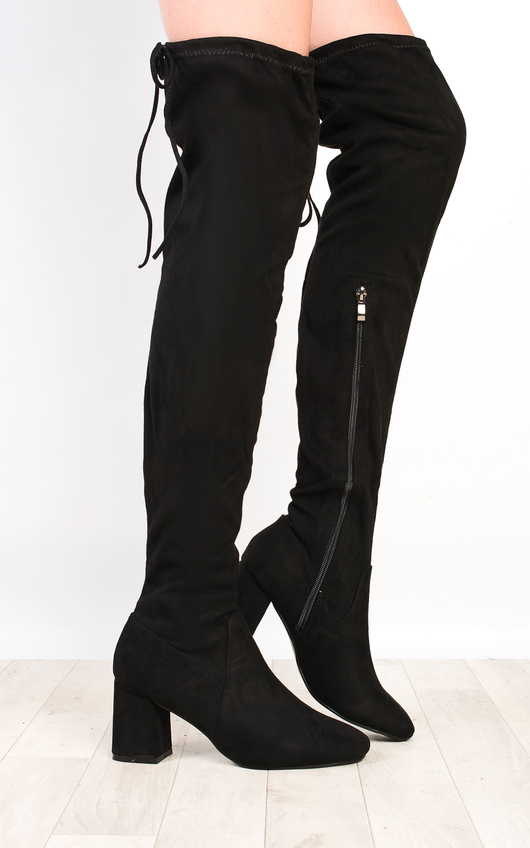 Presley Faux Suede Knee High Boots