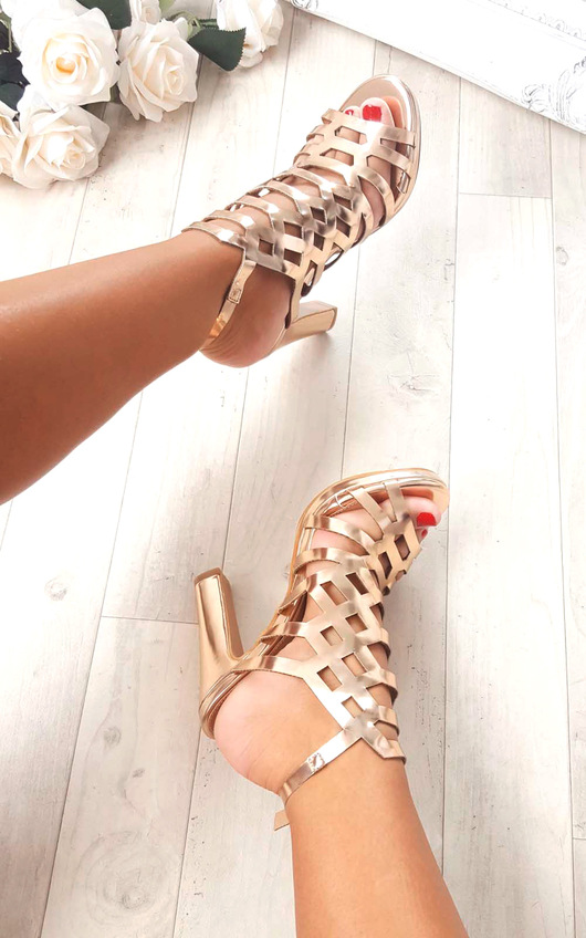 Riley Cut Out Chrome High Heels