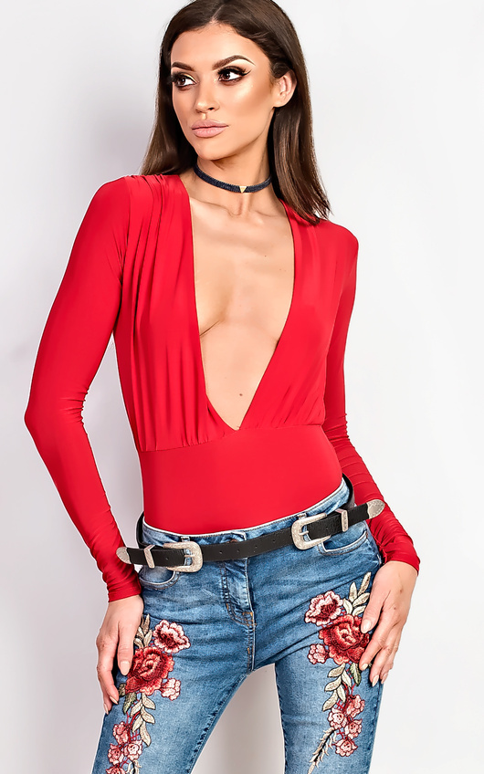 Tula Red Slinky Bodysuit