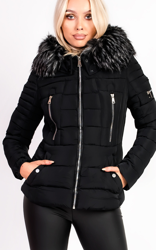 Carolina Padded Faux Fur Hooded Jacket