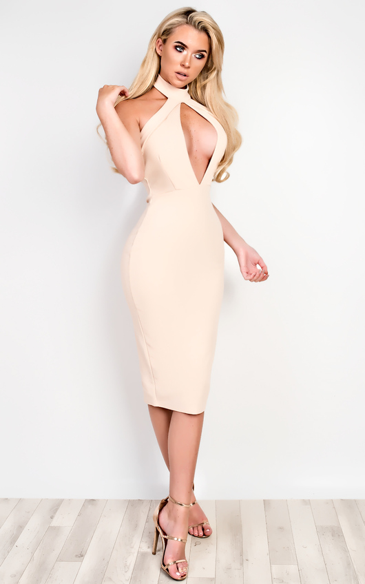 Alya Choker Neck Bodycon Dress