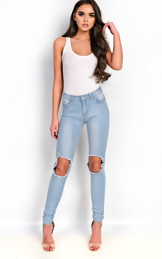 Cassidy Skinny Ripped Knee Jeans