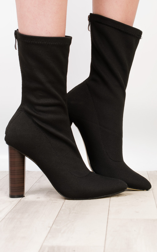 Flossie Knit Heeled Boots