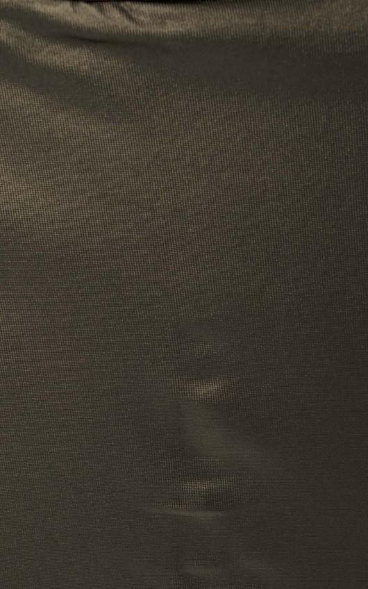 Chanel Wrap Wet Look Mini Skort