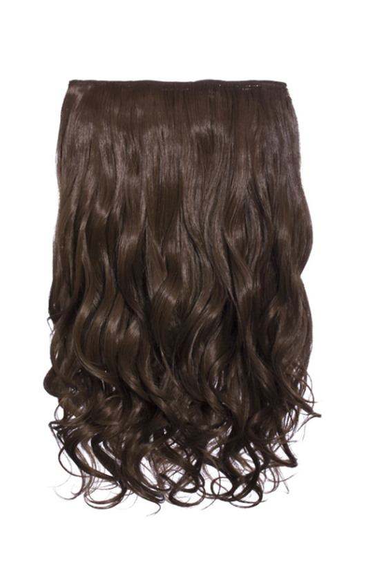 Intense Volume Clip In Hair Extensions - Curly Chestnut