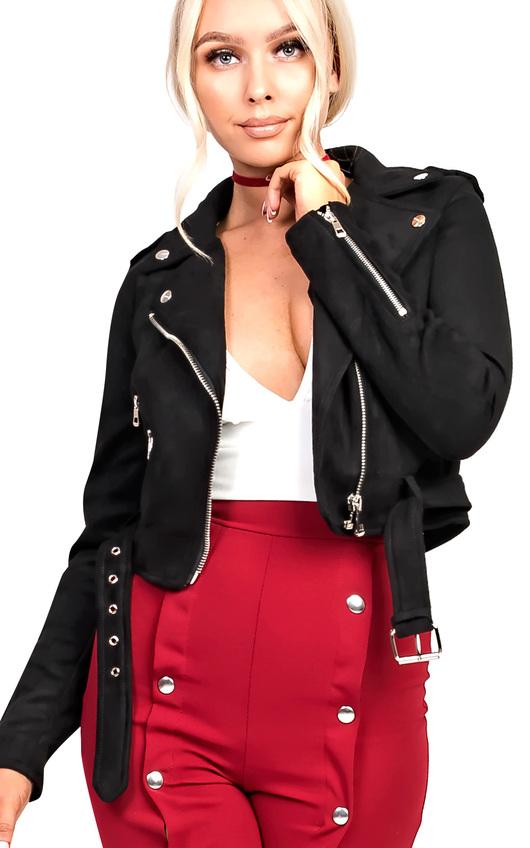 Lettie Biker Faux Suede Jacket