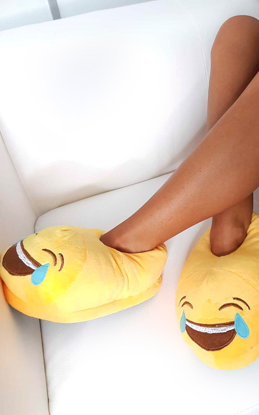 Emoji Laughing Slippers
