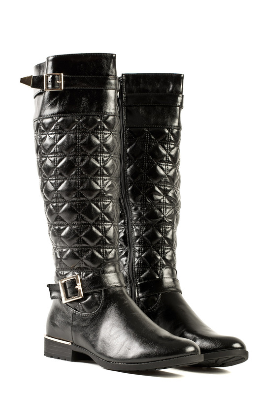 Mina Quilted Buckle Boots