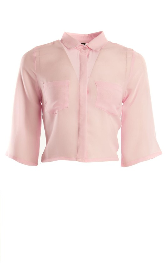 Maddy Chiffon Crop Shirt