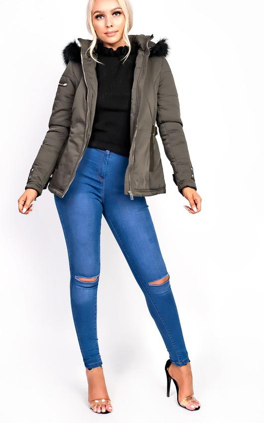 Klara Padded Fur Collar Jacket