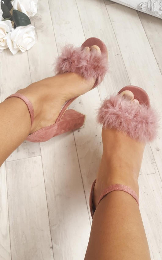 Alena Fluffy High Heels