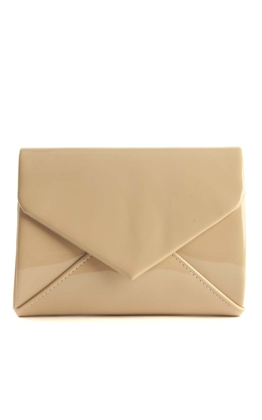 Cicely Mocha Envelope Clutch Bag