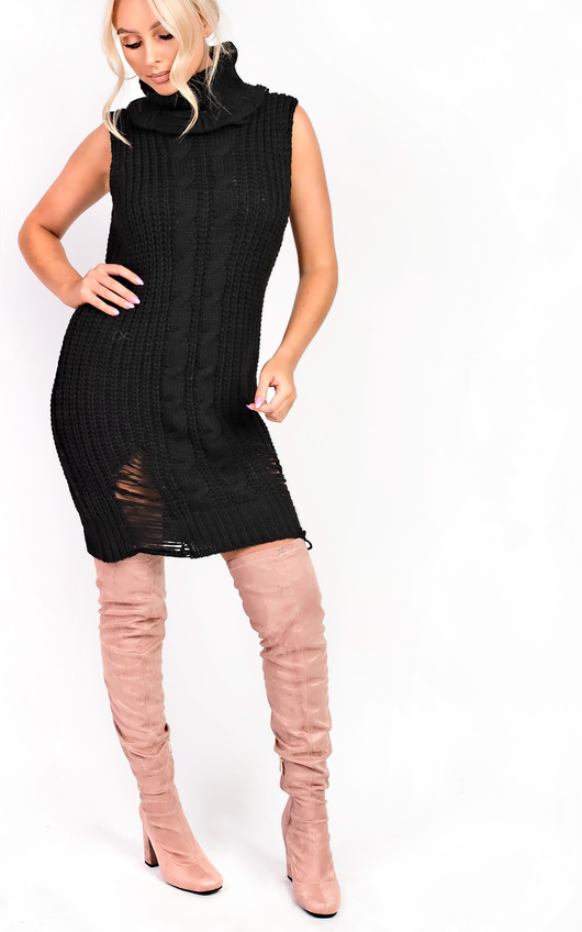 Kelly Knit High Neck Sleeveless Jumper