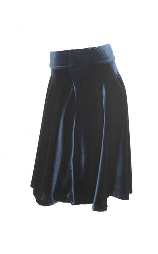 Lilo Velvet Skater Skirt