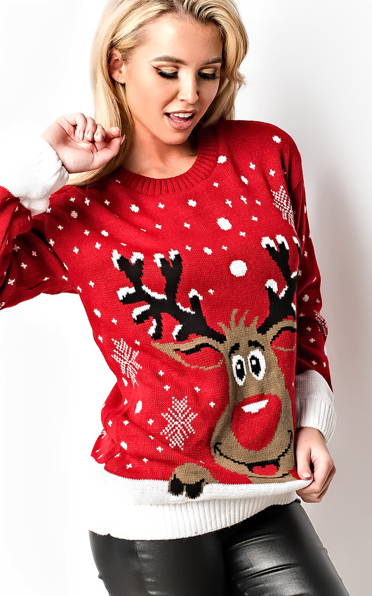 Noel Oversized Slogan Christmas Jumper