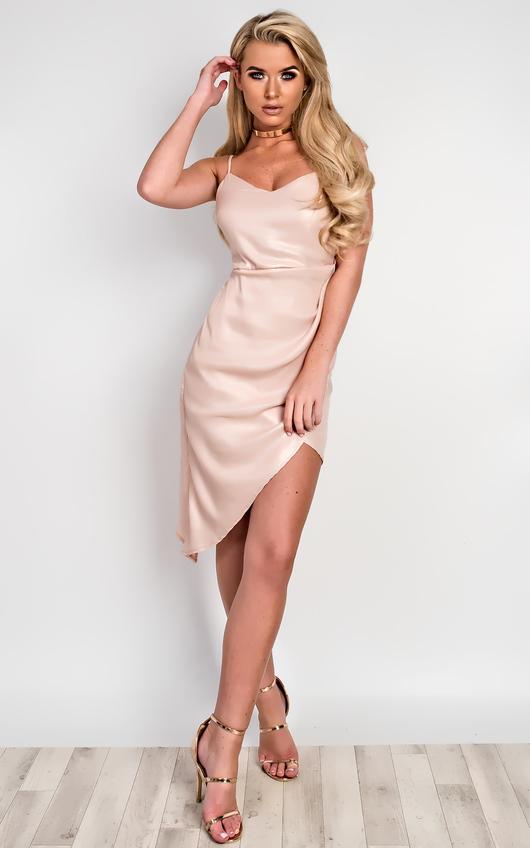 Emma Asymmetric Shimmer Dress