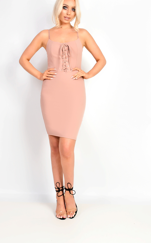 Mirey Lace Up Bodycon Dress