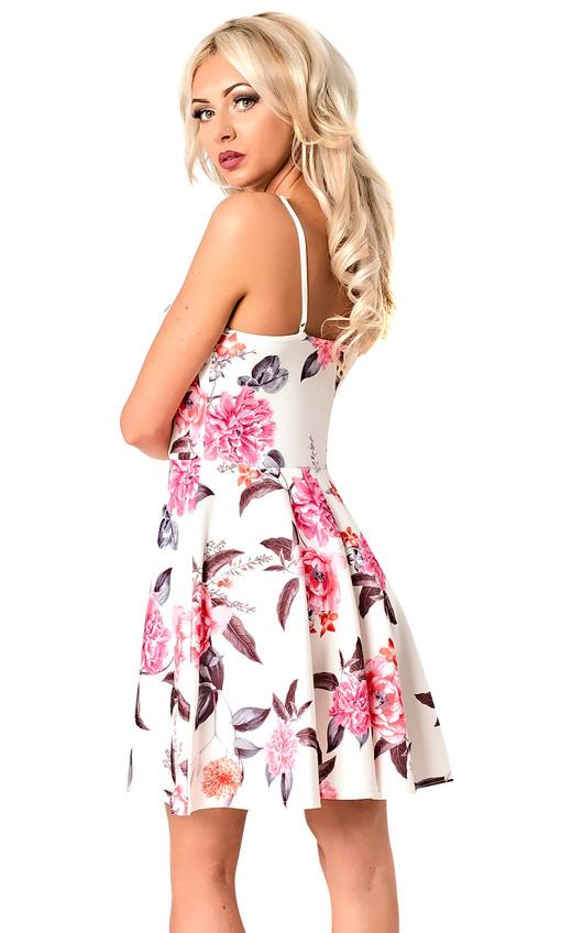 13bc093f81 Elle Strappy Lace Up Floral Skater Dress in Floral