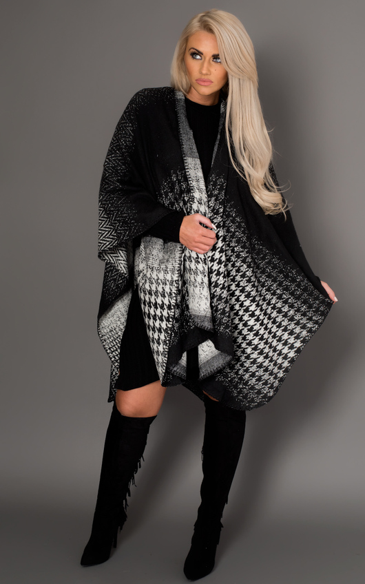 Averell Houndstooth Wrap