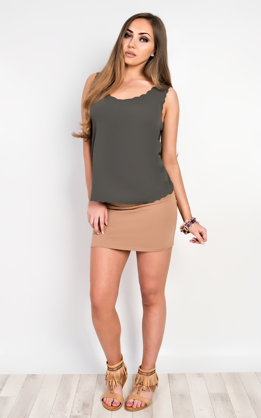Salima Scalloped Vest Top