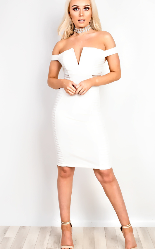 Zara Off Shoulder Bodycon Dress