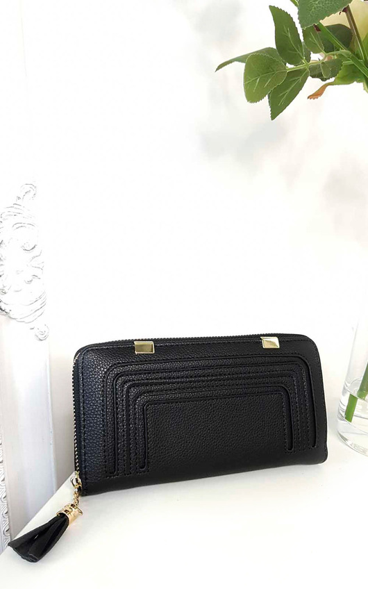 Carly Faux Leather Style Zip Purse
