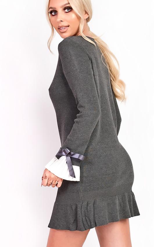 ddf6aef9735 Cecelia Pleated Sleeves Longline Jumper Dress Thumbnail